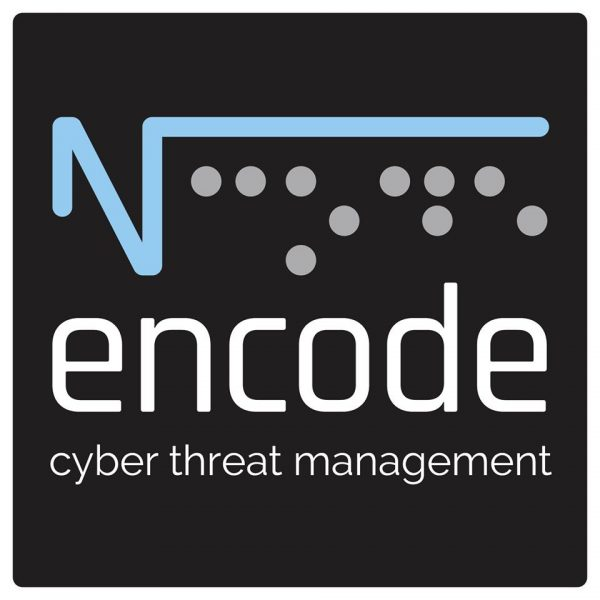 encode logo white